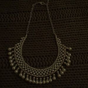 Pearl statement piece necklace